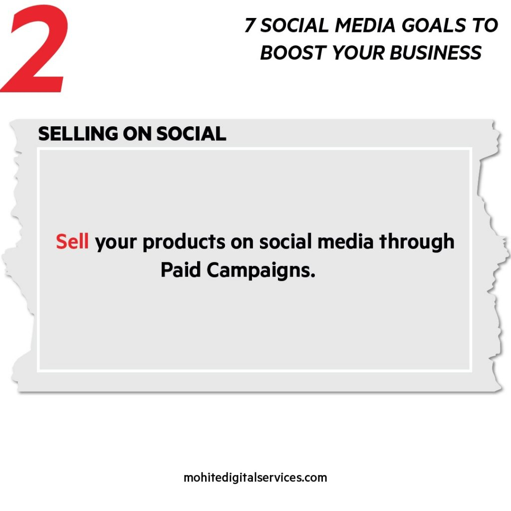 Selling Products on Social Media Platforms